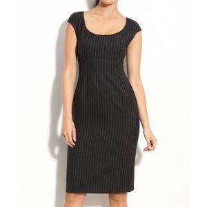LK Bennett Pinstripe Virgin Wool Fitted Dress